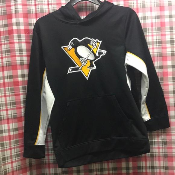 10//12 NHL Pittsburgh Penguins Hooded Sweatshirt  New Youth MEDIUM